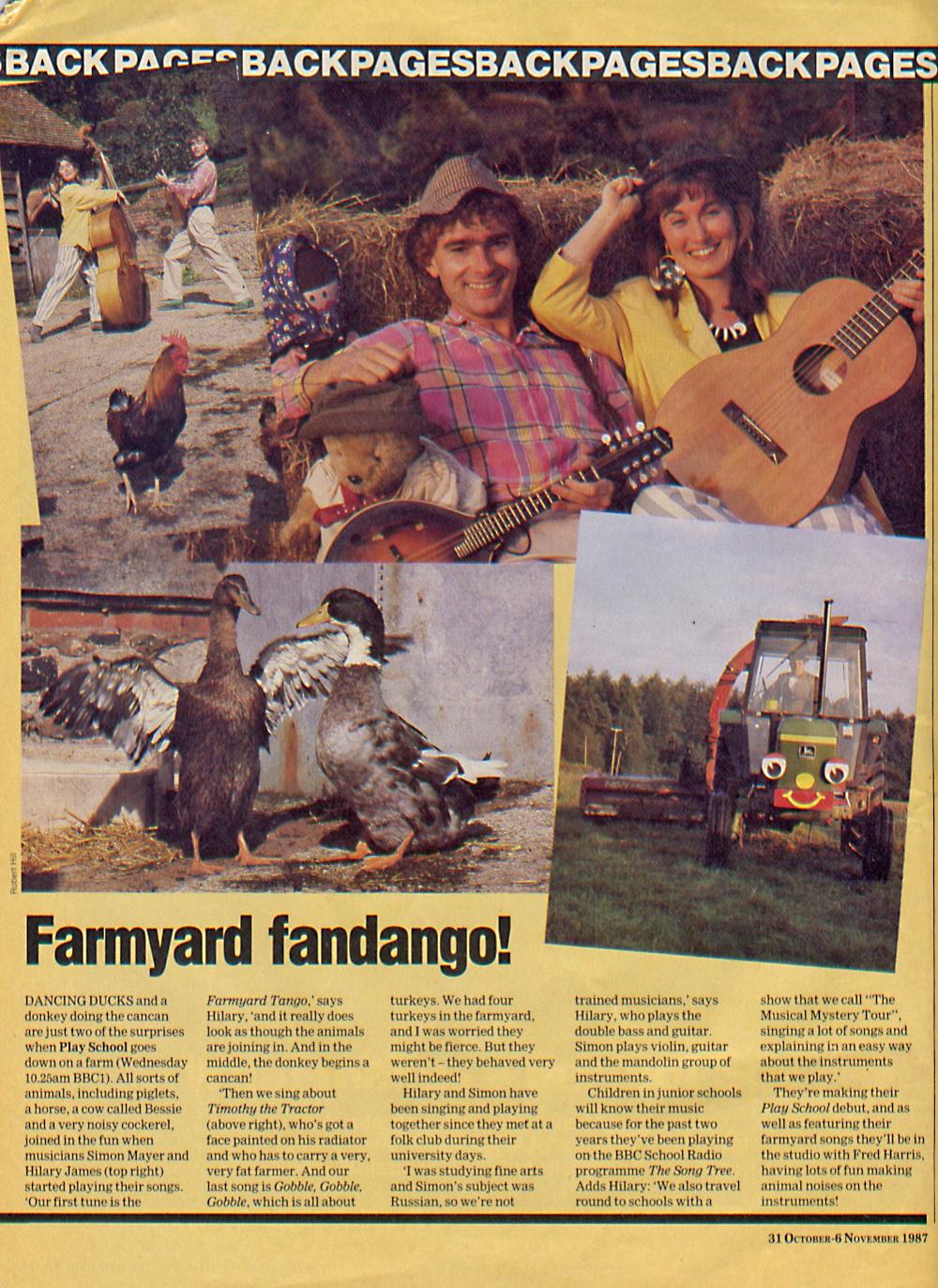 Radio Times back page